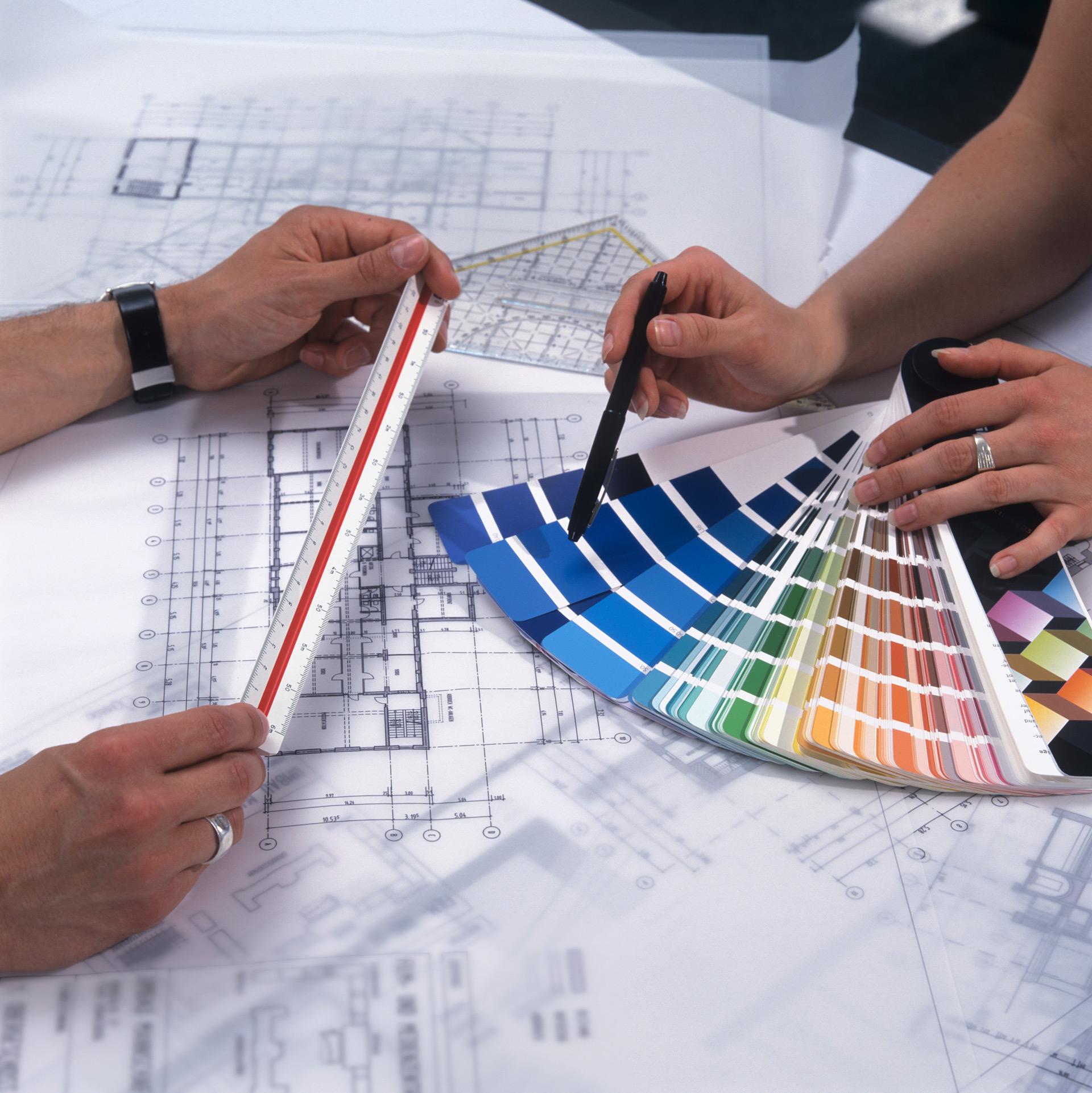 iStock Architektur Kruse Farbskala Planung Zeichnung